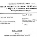 BPBD Sumut Keluarkan Surat Edaran Peringatan Dini Kesiapsiagaan Mudik Lebaran Tahun 2019