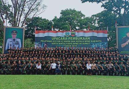 BPBD se Sumut Dapat Pelatihan Bintalfisdis dari Rindam I/BB Pematang Siantar