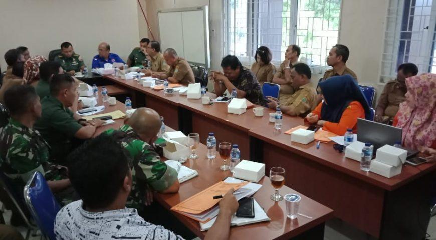 BPBD Sumut dan Pemkab Karo Gelar Rapat Bahas Pemulangan Pengungsi Erupsi Sinabung