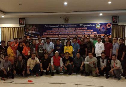 Kegiatan Gladi Posko Penanggulangan Bencana yang Digelar BPBD Provsu Ditutup