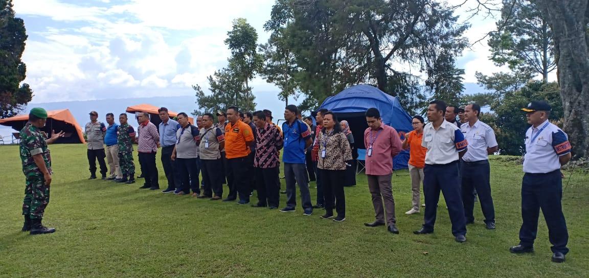 Para Peserta Antusias Ikuti Gladi Posko Penanggulangan Bencana yang Digelar BPBD Provsu