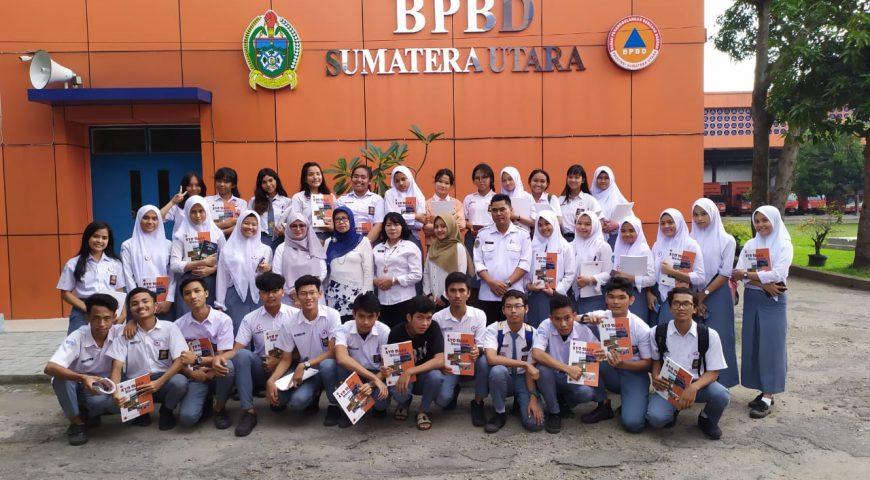 BPBD Provsu Berikan Materi Mitigasi Bencana ke Siswa SMA Negeri 4 Medan