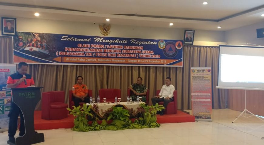 Direktur Bantuan Darurat BNPB Buka Acara Gladi Posko PB yang Digelar BPBD Provsu