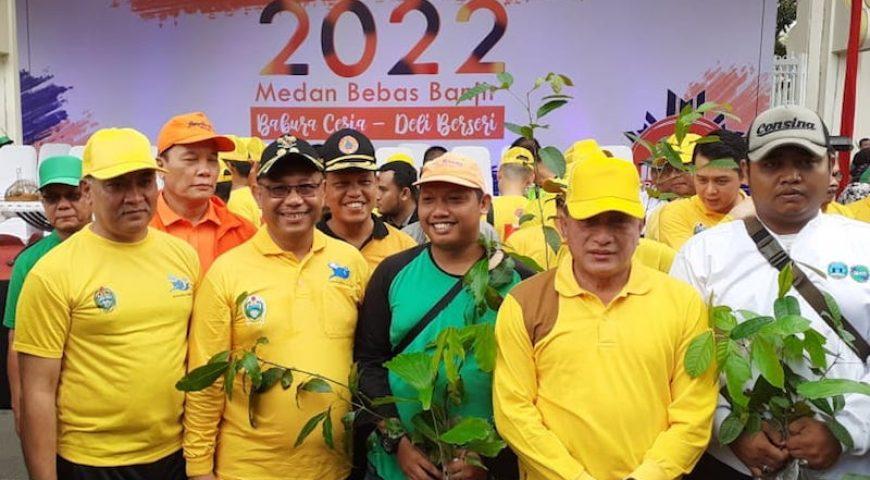 Gubernur Sumut dan Masyarakat Deklarasikan Komitmen Medan Bebas Banjir Tahun 2022