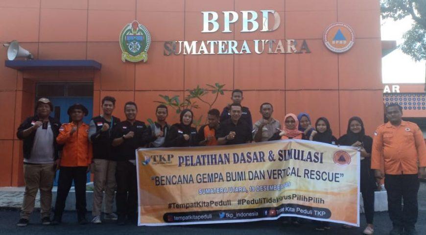 BPBD Provsu Latih Relawan Bencana TKP Terkait Simulasi Gempa Bumi dan Vertical Rescue