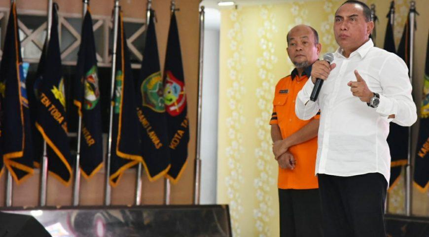 Gubsu Imbau BUMN dan BUMD di Wilayah Sumut Gelar Simulasi Penanggulangan Bencana