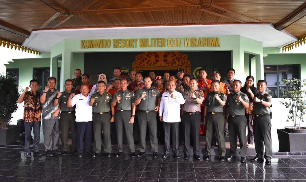 Tim Terpadu Karhutla Provsu Tinjau Dashboard Lancang Kuning Nusantara ke Riau