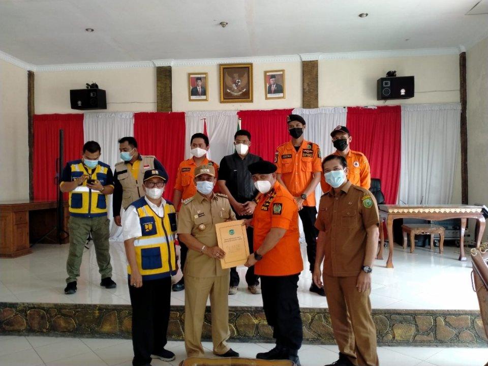 BPBD Sumut dan Bupati Padang Lawas Koordinasi Penanganan Bencana Banjir