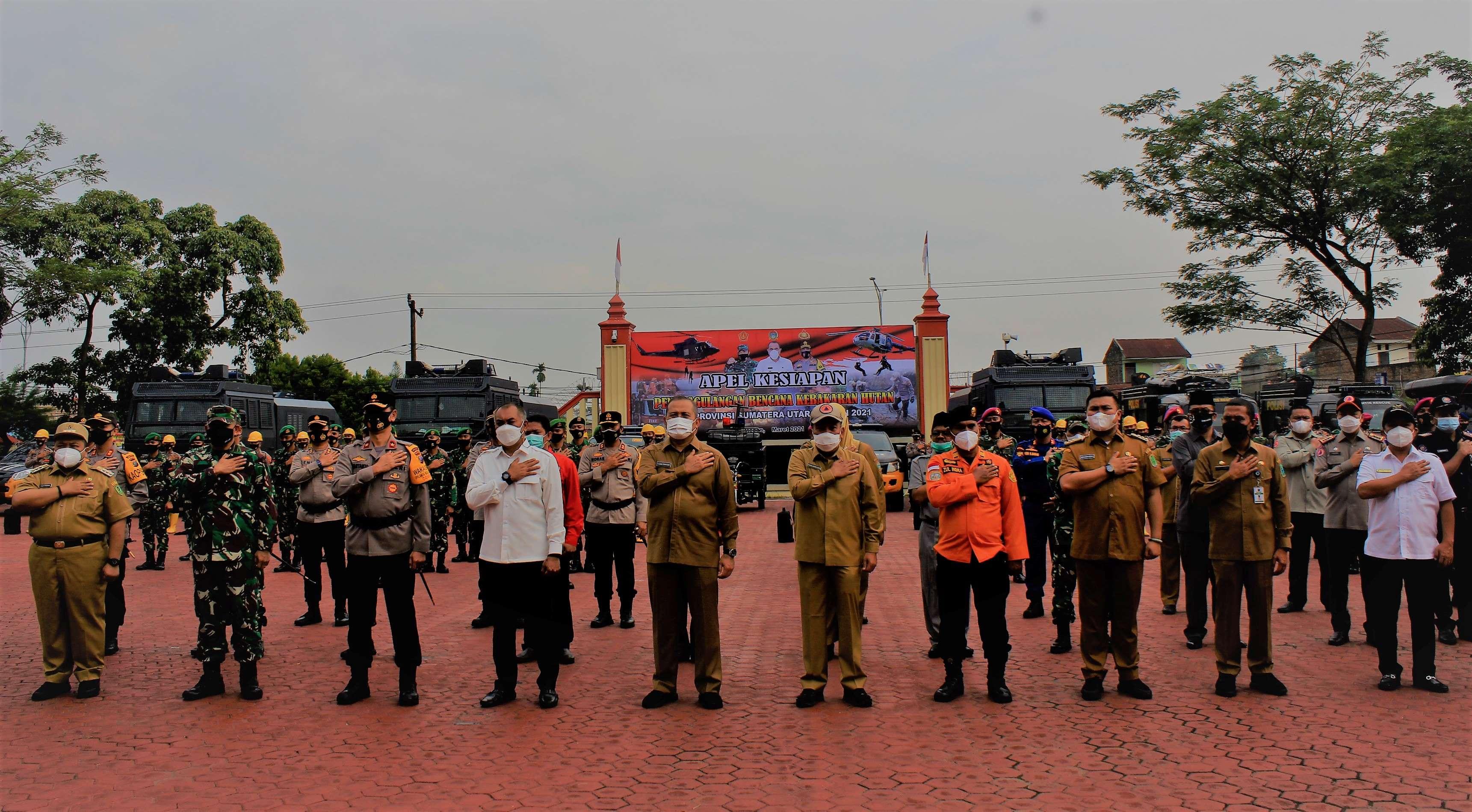 Antisipasi Karhutla, Apel Siaga Digelar di Sumatera Utara