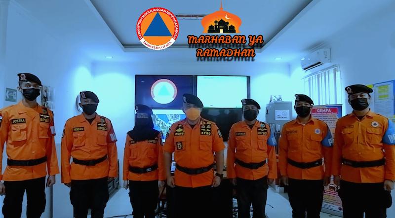 Plt Kepala BPBD Provsu Sampaikan Ucapan Selamat Menunaikan Ibadah Puasa 1442 H