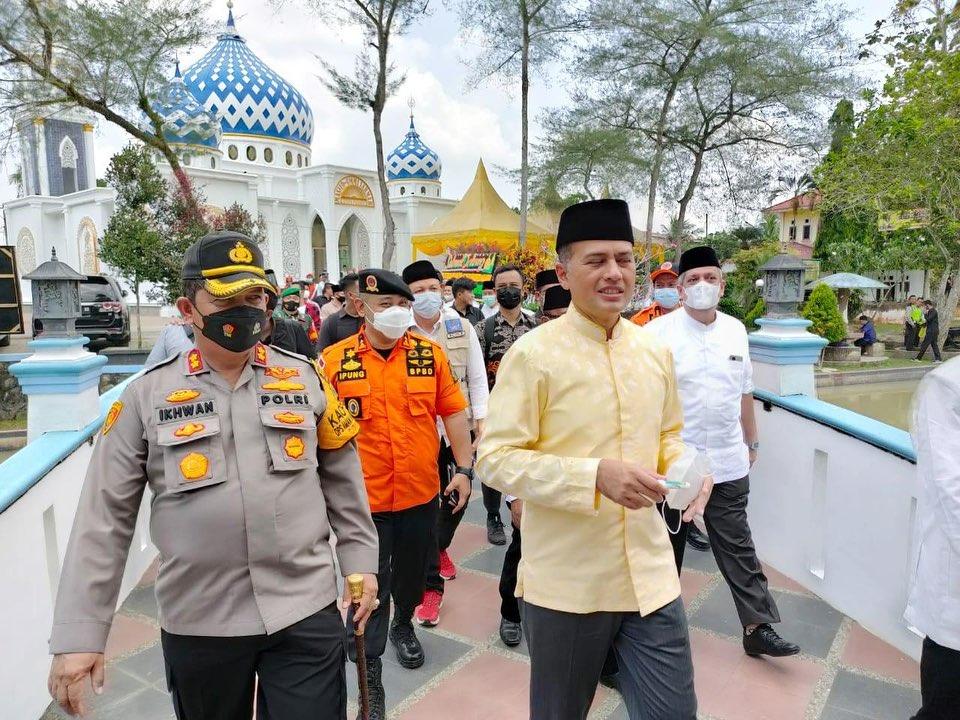 Plt Kepala BPBD Provsu Dampingi Wagub Hadiri Peresmian Masjid Ummi Sarmah di Simalungun