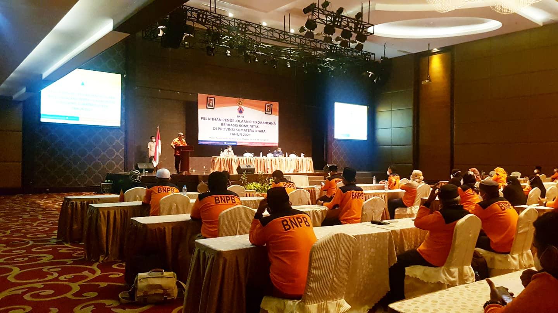 Sekretaris BPBD Provsu Tutup Pelatihan Pengelolaan Risiko Bencana yang Digelar BNPB