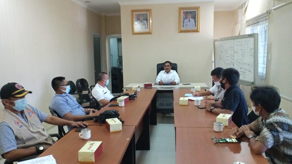 Kepala BPBD Provsu Terima Kunjungan Kerja Rombongan BPBD Kota Padang